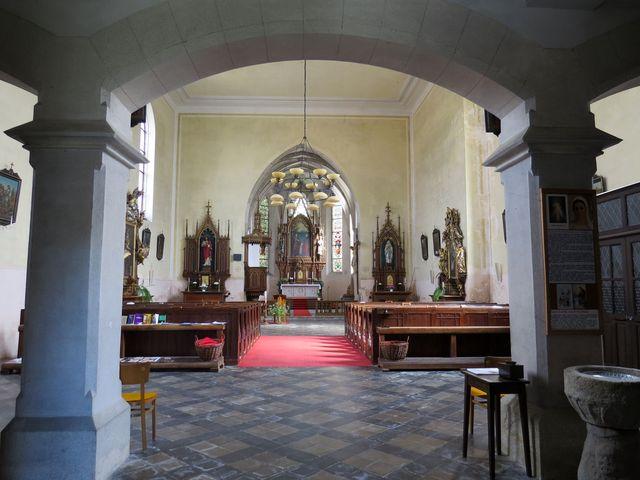 interiér kostela ve Stráži nad Nežárkou