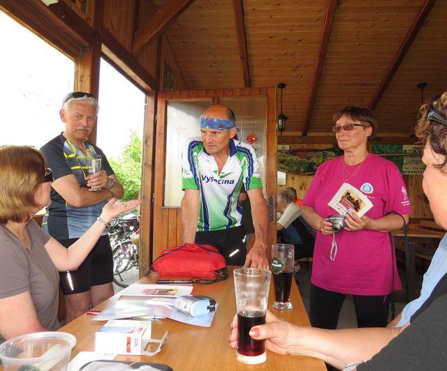 cykloturisté sdělují zážitky z trasy