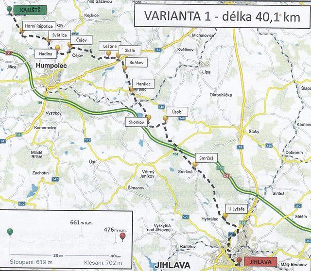 Kaliště-Horní Rápotice-Čejov-Skála-Boňkov-Herálec-Skorkov-Úsobí-Smrčná-Jihlava 7.6.2015