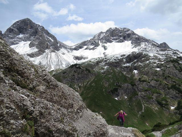 Allgäuské Alpy - výhled ze sedla Mädelejoch