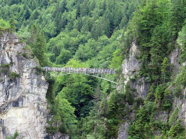 Marienbrücke nad Pöllatschlucht u Neuschwansteinu