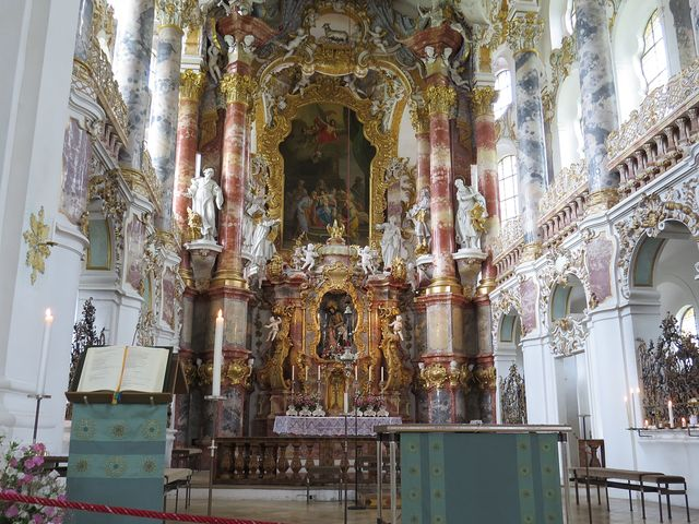 Wieskirche je nejkrásnější rokokový kostel na světě