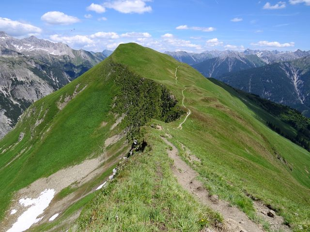 panoramatická cesta přes Mutte do Elbigenalp
