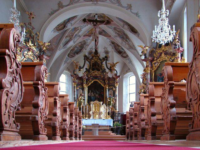 interiér kostela v Lechu; foto F. Janeček