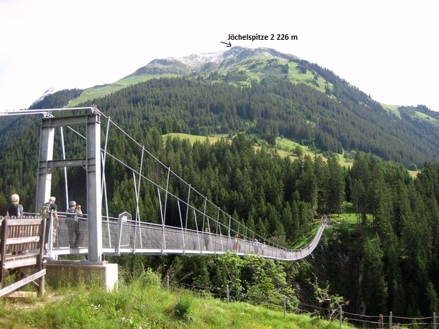 nejdelší závěsný most v Rakousku byl uveden do provozu v roce 2011