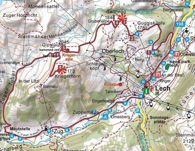 horské louky na Oberlechu pod Kriegerhornem