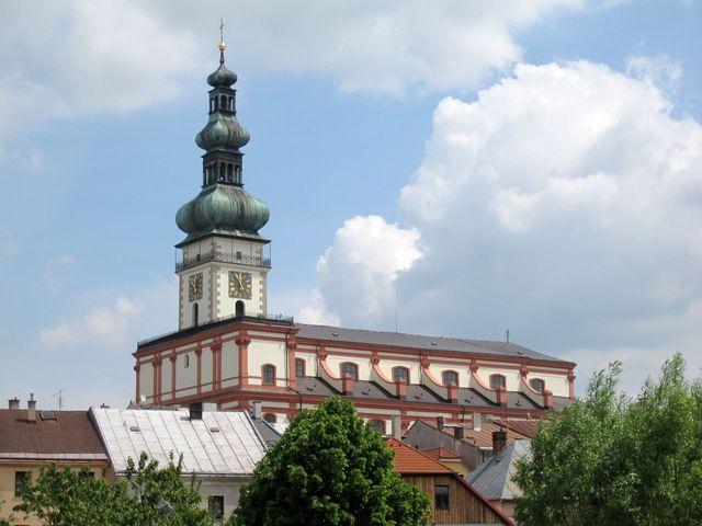 dominanta Polné, trojlodní bazilika Nanebevzetí Panny Marie