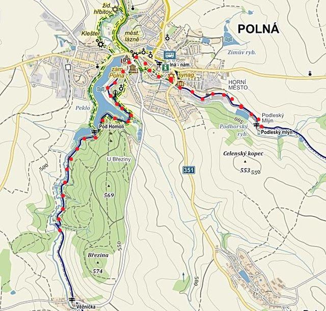 značení trasy od Věžničky kolem Homole, přes Polnou k Podleskému mlýnu - 25.5.2015