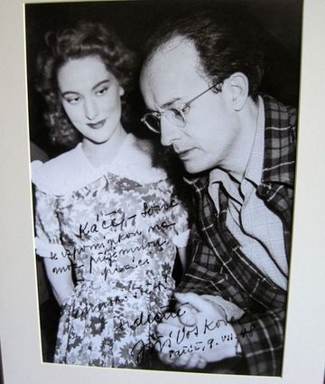 s Jiřím Voskovcem v Paříži roku 1948