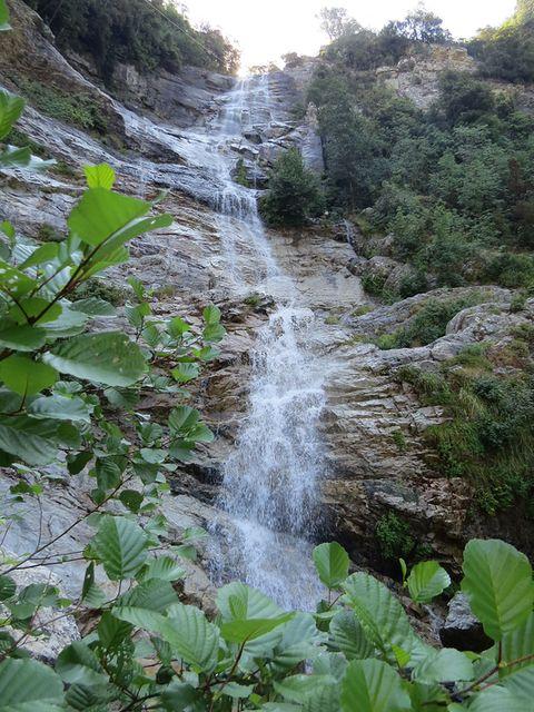vodopád Voile de la Mariée, nejvyšší na Korsice - 150 metrů