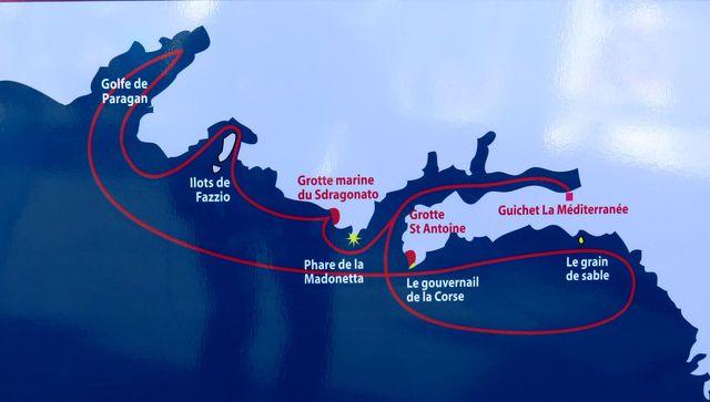 plánek plavby výletní lodě