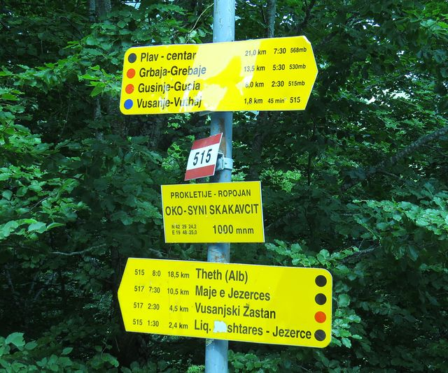 trasa č. 515 vede ke hranicím s Albánií