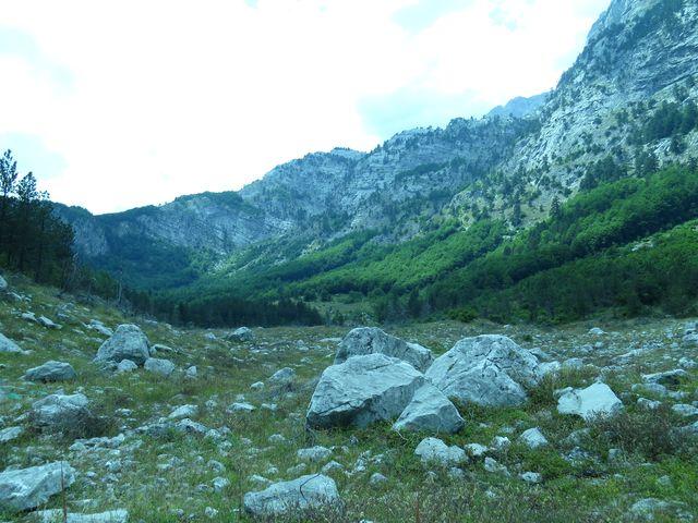 hraniční hřeben - to už je Albánie