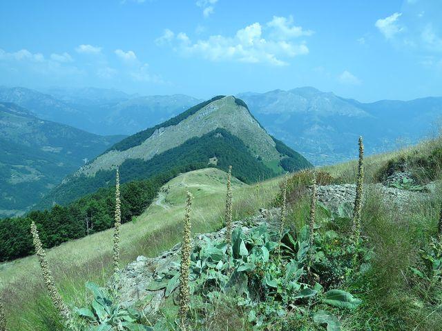 Vezírova brada - v údolí je městečko Gusinje