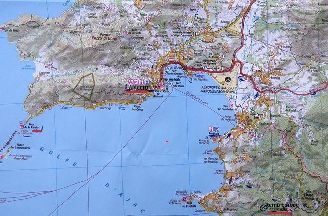 mapka oblasti, kde jsme pobývali 25.7.2015