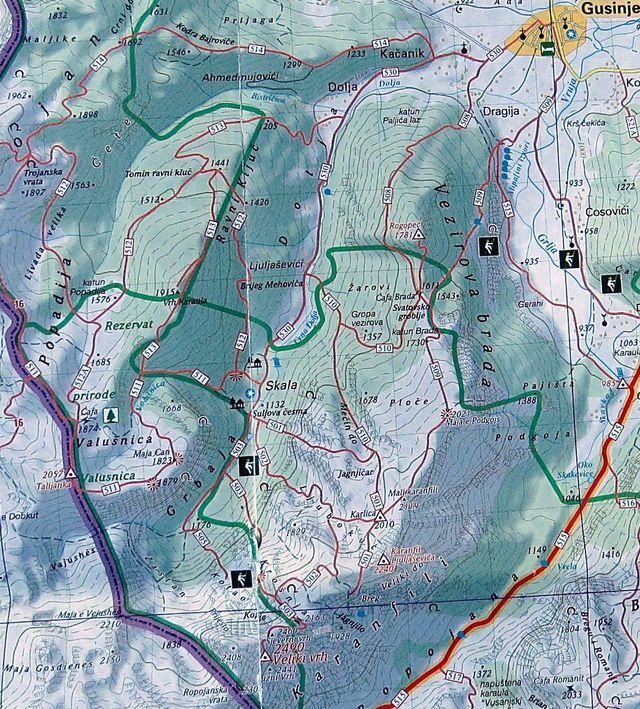horské skupiny v okolí Gusinje