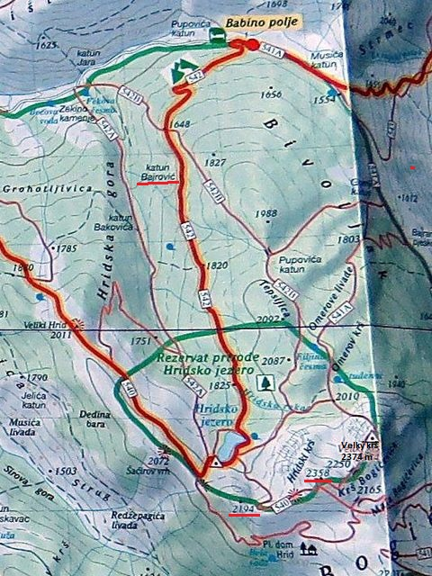 přírodní rezervace Hridské jezero