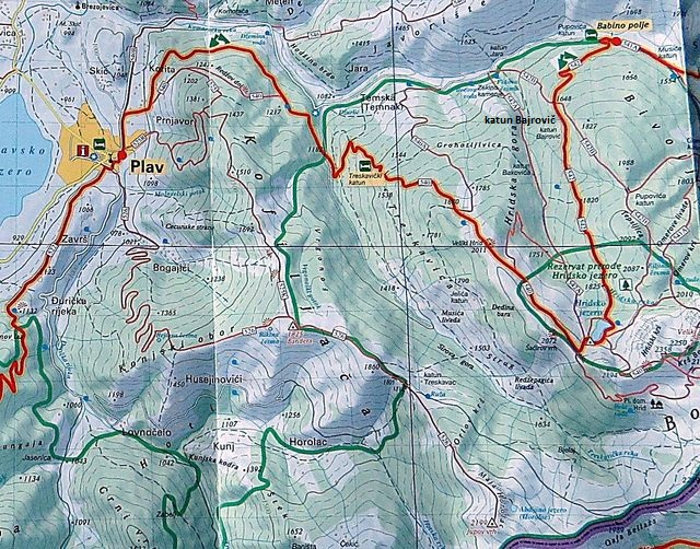 mapa oblasti od Plavu k Hridskému jezeru