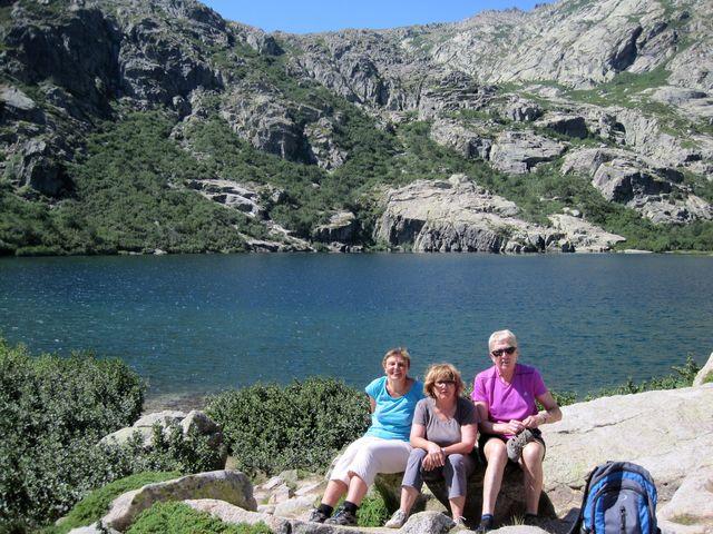 památeční foto od ledovcového jezera Lac de Melo