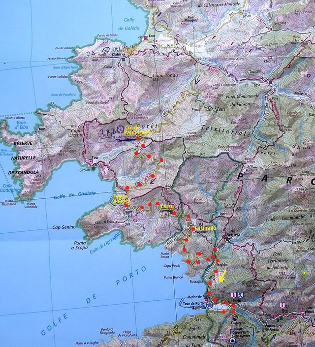 trasa ze sedla Col de Palmarello do Porta 21.7.2015