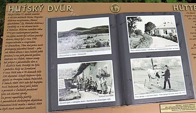 jen pár obrázků zbylo z vesnice Huťský Dvůr (830 m n.m.)
