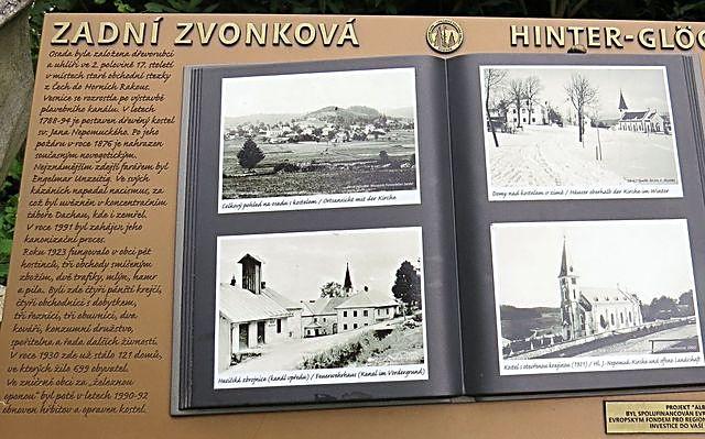 Zadní Zvonková - zaniklá obec u Schwarzenberského kanálu