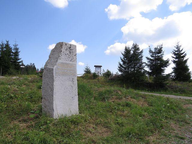 památník Kyrill ve výšce 1 160 metrů