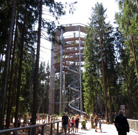 stezku navrhl stejný architekt jako na bavorské straně, kde tato atrakce funguje už od roku 2009