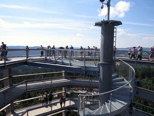 horní vyhlídková plošina ve výšce 40 metrů