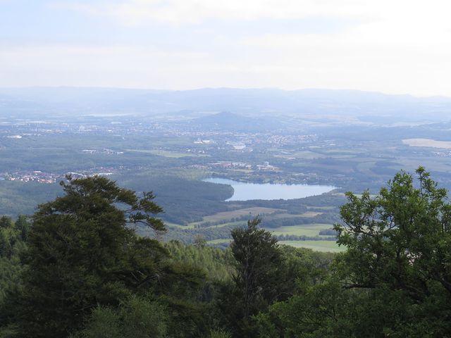 krajina pod Krušnými horami z Dušanovy vyhlídky