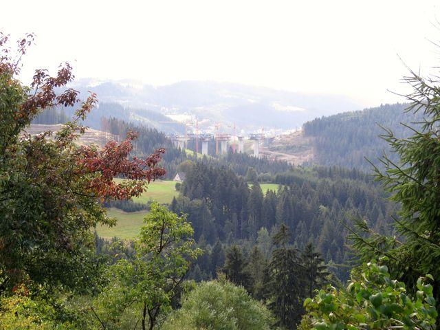 výhled z polské cesty přes Česko na Slovensko