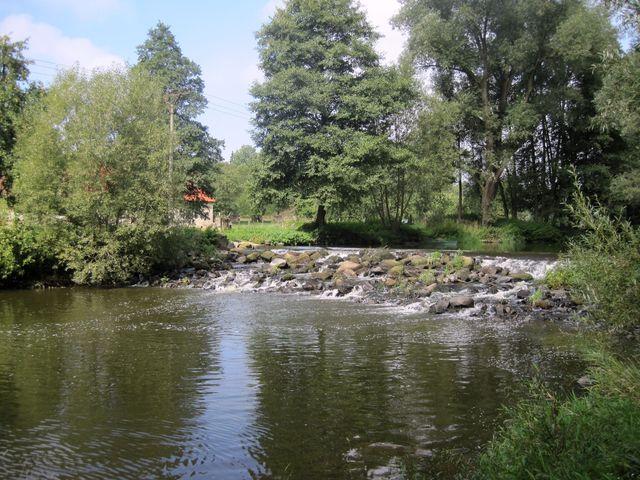 splav na řece Jihlavě v Přibyslavicích
