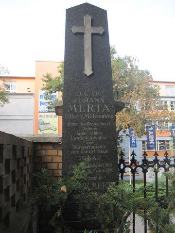 Mertův pomník na jihlavském Ústředním hřbitově