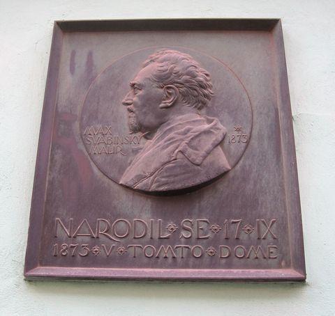 deska na rodném domě M. Švabinského