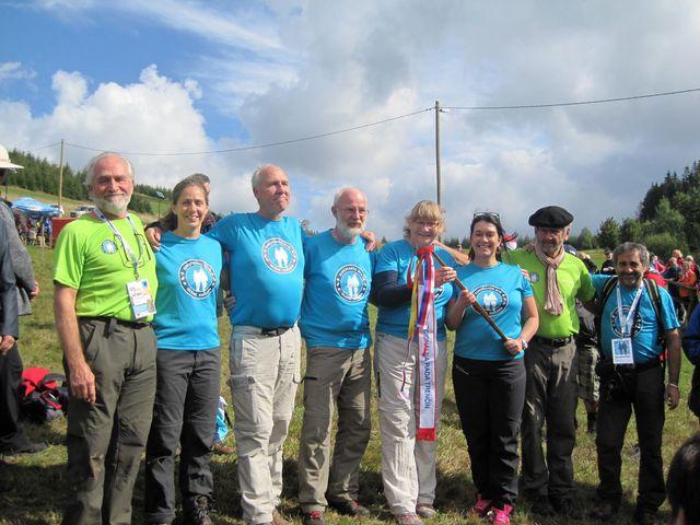 delegace turistů, kteří budou pořadateli ukončení akce Eurorando 2016 ve Švédsku