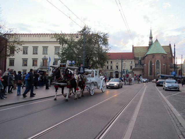 centrum Krakova, druhého největšího polského města (asi 760 tisíc obyvatel)