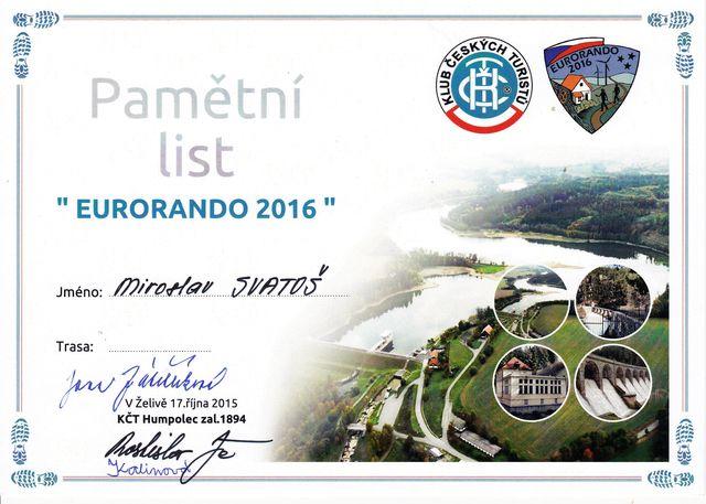 doklad o absolvování oblastní trasy Eurorando 2016