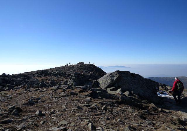 vrcholek Babí hory (1 725 m), královny Beskyd