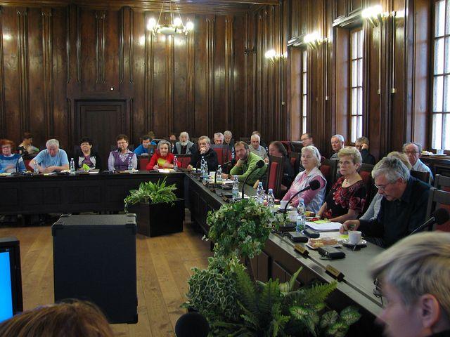část delegátů - zúčastnili se členové 16 odborů na Vysočině; foto F. Janeček