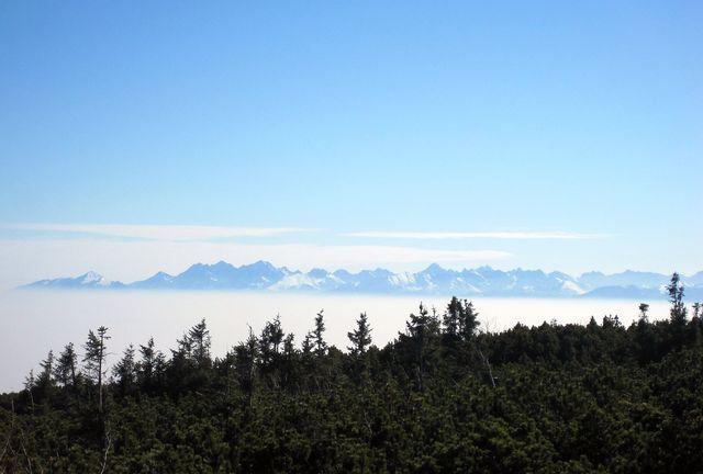 čím výše, tím čarovnější výhled na hřebeny slovenských hor