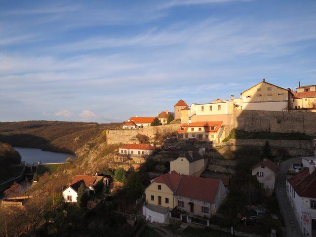 pivovar na znojemském hradě - pohled z terasy od sv. Mikuláše