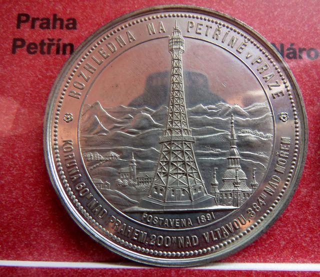 medaile Petřínská rozhledna ze sbírky Josefa Květoně