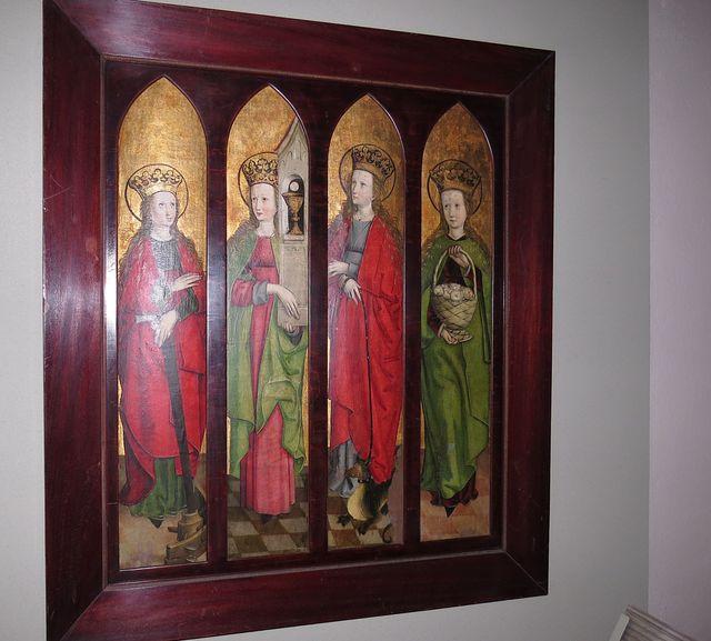 sv. Kateřina, sv. Barbora, sv. Markéta, sv. Dorota - polovina 15. století