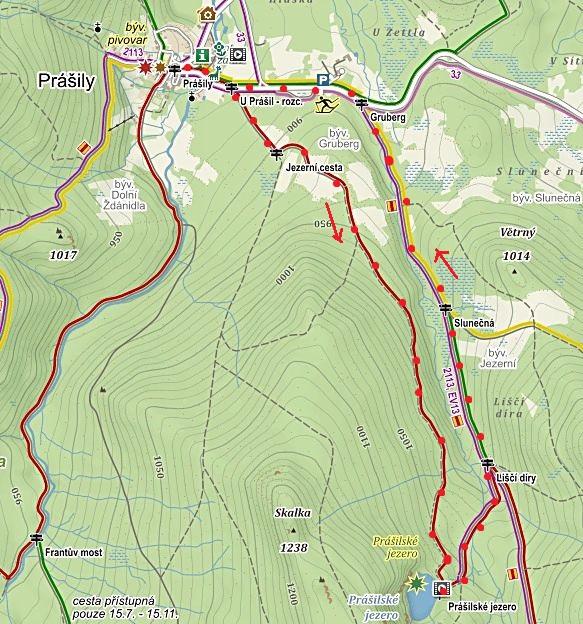 trasa z Prášil na Prášilské jezero a zpět 29.1.2016