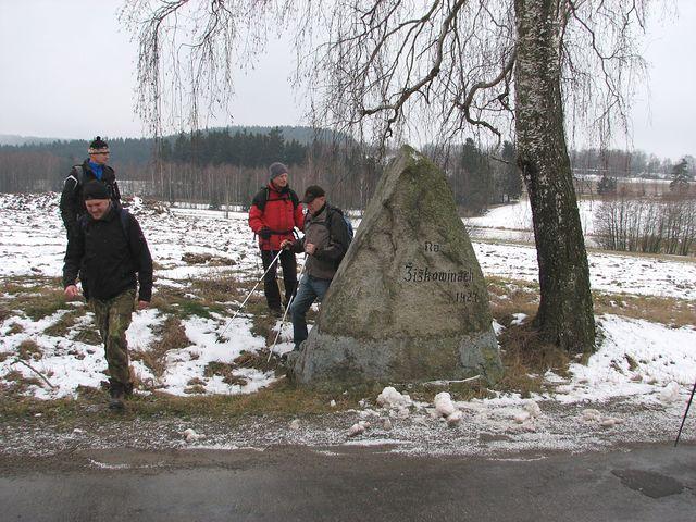 pamětní kámen Na Žižkovinách; foto F. Janeček