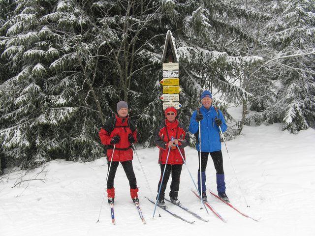 poslední trasa letošního lyžařského výletu na Šumavu - u pramenů Vltavy; foto M. Bradová