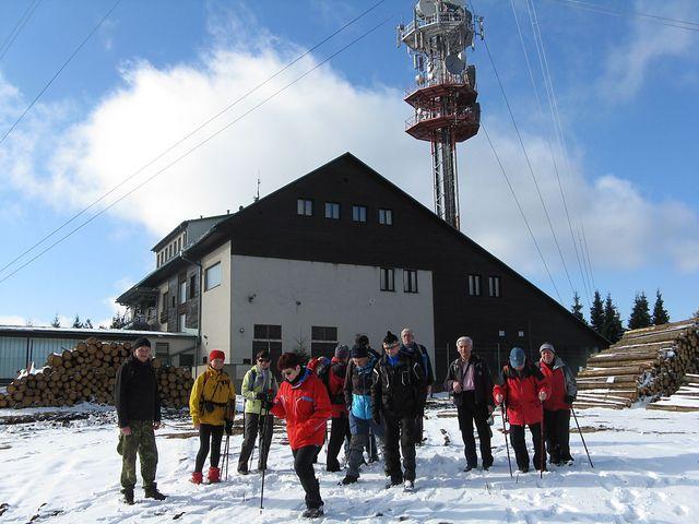 na vrcholové plošině nejvyšší hory Českomoravské vrchoviny (837 m n.m.); foto M. Bradová