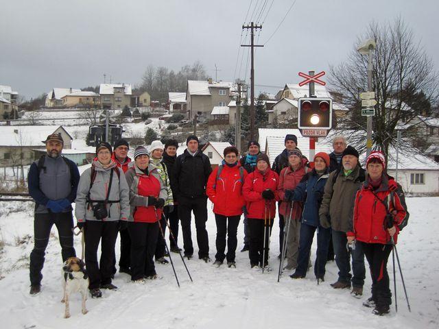 účastníci přechodu Jihlavských vrchů 2016