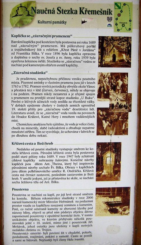 základní informace o kulturních památkách na NS Křemešník