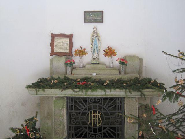 interiér kaple sv. Jana pod Křemešníkem